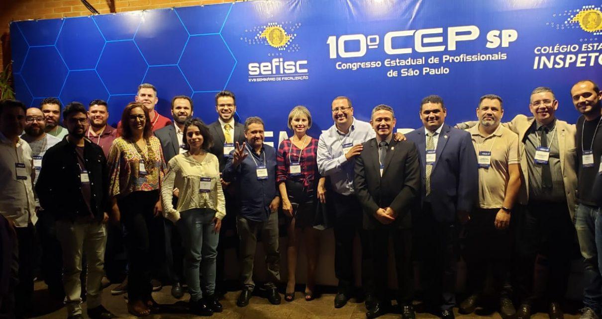 AEAO e UNARO representam a região no Congresso Estadual de Profissionais