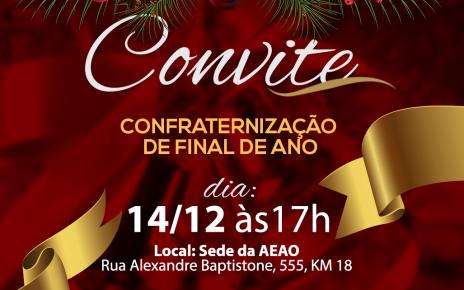 Convite Confra Final de Ano